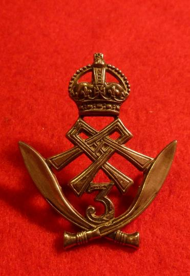 3rd GURKHA RIFLES WW2 CAP BADGE QUEEN ALEXANDRAS OWN.