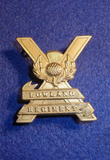 SCOTTISH LOWLAND REGIMENT CAP BADGE
