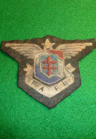 WW2 FREE FRENCH F.A.F.L FORCES AERIENNES FRANCAISES LIBRE AIR FORCES BADGE