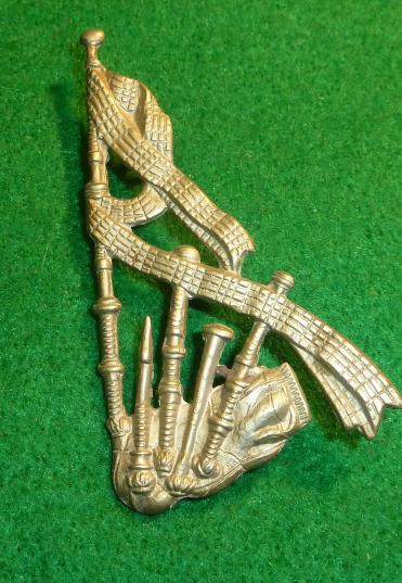 SCOTTISH PIPERS BAGPIPE TRADE ARM / SLEEVE BADGE