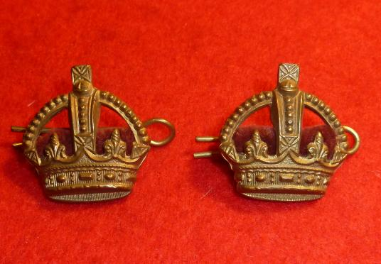 GILT KINGS CROWNS A MATCHING PAIR.