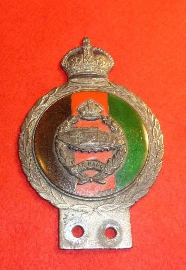 WW2 ROYAL TANK REGIMENT CAR / VEHICLE OFFICIAL BADGE