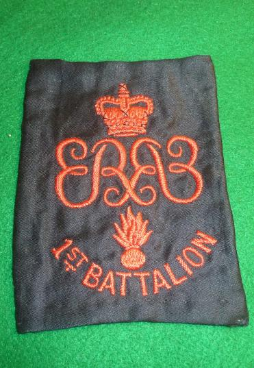 GRENADIER GUARDS ER11 CLOTH ARM BADGE