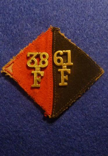 38TH/61ST FIELD BATTERY, 14TH FIELD BRIGADE ROYAL ARTILLERY PAGRI BADGE, INDIA